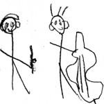 Ada Erdahl sketch, age 4